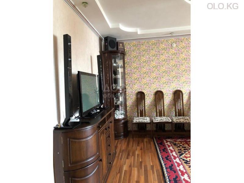Продаётся 3к.кв элитка, vip городок Ала-Арча-1, 3этаж, 120м2, евро+мебель, дом сдан 3л/з. Цена 95$ - 5